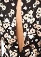 NetWork Çiçekli Mini Elbise Siyah